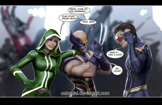 wolverine's carpal tunnel by nebezial