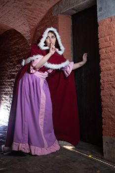 Belle winter dress cosplay by PeytonCosplay