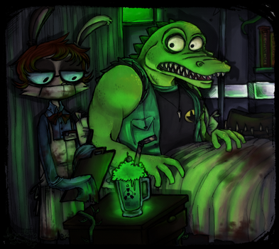 The Lair of The Radioactive Bloke by InspectorCrayon
