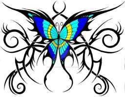 tribal butterfly by KatieConfusion