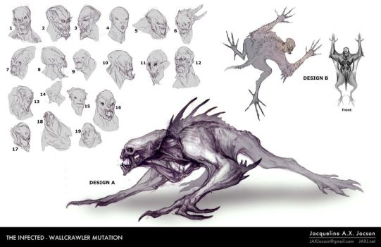 THe Infected: Wallcrawler Mutation by monsterling