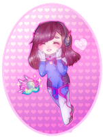 Chibi D.va by Ghostpuffy