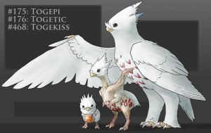 Realistic take on Togepi Togetic Togekiss