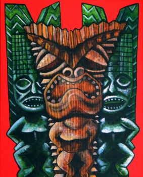 Three Tikis by atomictonytiki