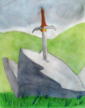 The Sword in the Stone by RedVioletPanda