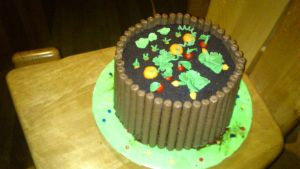 Raised bed cake by Miryl
