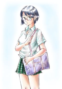 a girl with glasses 1 by neconotama