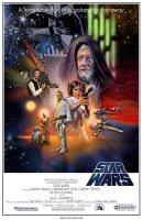 Star Wars Poster - Classic White Border Variant by Elswyse