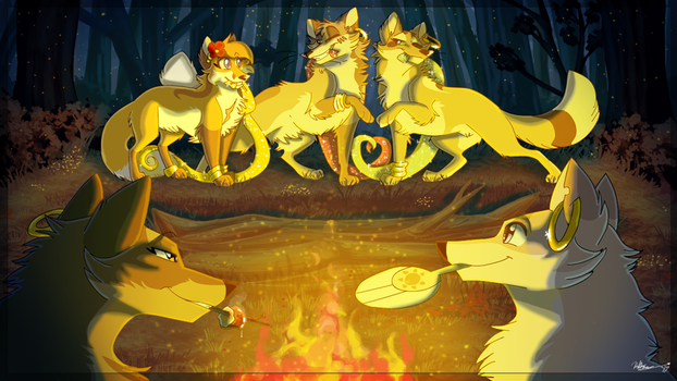 [COMM] Campfire Dance Practice by TheCynicalHound