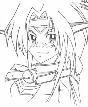 Aisha : Outlaw Star by ChibiPandaMonster