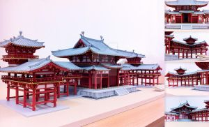 1:70 Scale Model of Phoenix Hall - Byodo-in Temple by OutlawSiS
