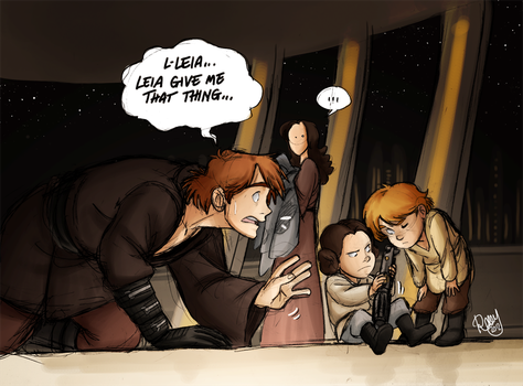 SW - Leia...would you give me that thing... by Renny08
