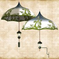 Green Umbrella Lamp by Just-A-Little-Knotty