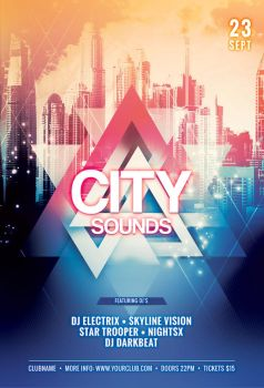 City Sounds Flyer by styleWish