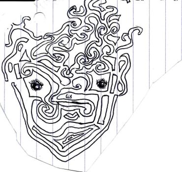 Inktober maze face tribal by FFGallery
