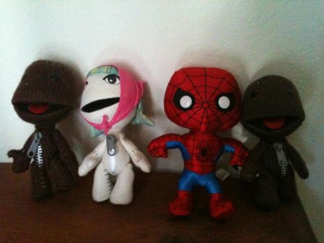 Sack People and Spider-Man by solidejake