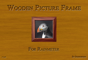 Wooden Picture Frame For Rainmeter by Shanibern