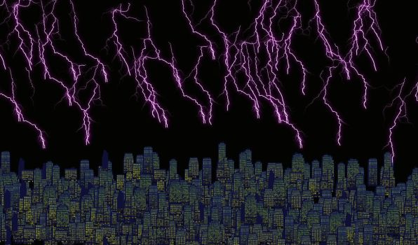 Storm Over the City by myitachi