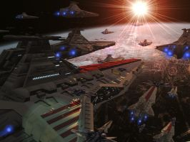 Coruscant Home Fleet by Timewyrm