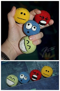 The Crocheted: Stressball Set by janey-in-a-bottle