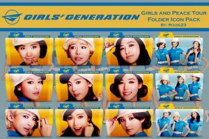 Girls and Peace Tour Folder Icon Pack Version 2 by Rizzie23