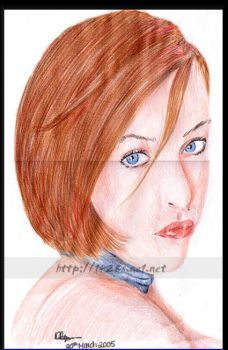 Gillian Anderson _Colour_ by fourteen20eights