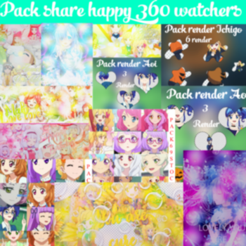 Pack Share Happy 360 Watchers by Xu-design-123
