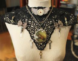 Steampunk Assemblage Collar by asunder