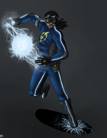 Static Shock- Static Redesign by Jessiphia