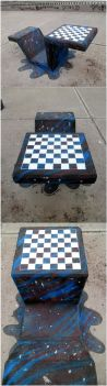 Universal table + Chessboard by Johnny-Aza