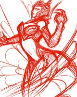 Sketches - Elise spinning some web by Zuske