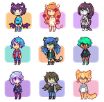 Pixel Icon Commishes 3 by Sergle