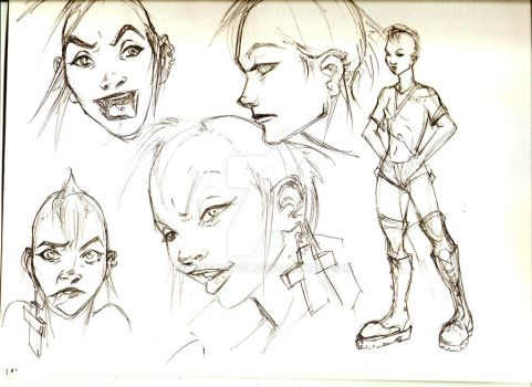 tank girl sketches by weshoyot