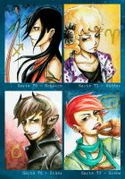 ACEO Zodiac Signs Part 2 by Tacaret