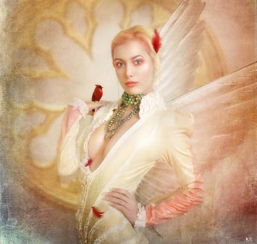Gold angel by Silvia15