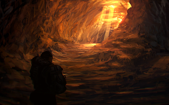inside the cave.... by llRobinll