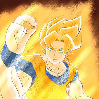 Super Saiyan Goku by Inspiredfatty