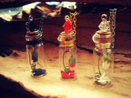 Rose Bud in a Bottle - Enchanted Rose - Rose in a by MySoulShards