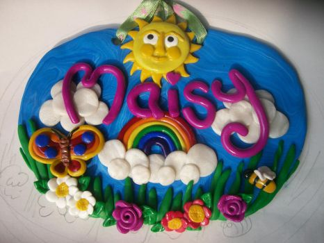 fimo name plaque by craftymummy