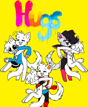 Hugs 4 Every1 Cat Undertale X Oc Collab by SnowySeal