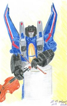 Thundercracker with violin by 8Libelle8