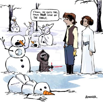 Han And Leia by BrianKesinger