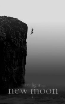 NEW MOON POSTER : cliff dive by annaGOESpanasonic