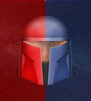 Red VS Blue: Mandalorian Edition by BeviinK