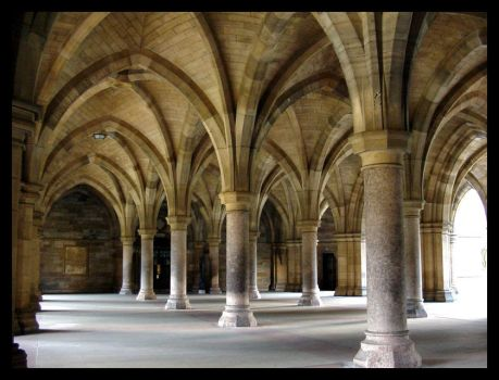 Glasgow University Arches by Dabro