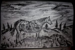 Horse by 666mephistopheles