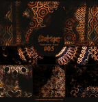 Textures pack #05 - Arabesque sweet night by lune-blanche