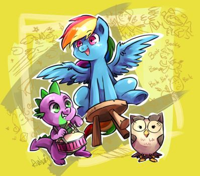 The inattentive trio by Audrarius