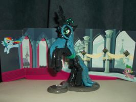 Queen Chrysalis Laptop Hugger (Left Side) by DeadHeartMare