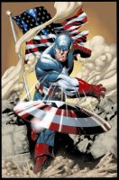 Captain America colored by ginmau